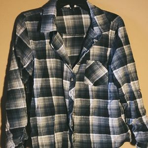 Wet Seal Black and White Flannel